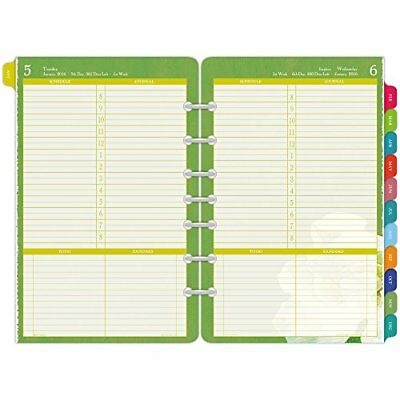 DayTimer One Page Per Day Refill 2016, 12 Months, LooseLeaf, Desk Size, 5 5 New