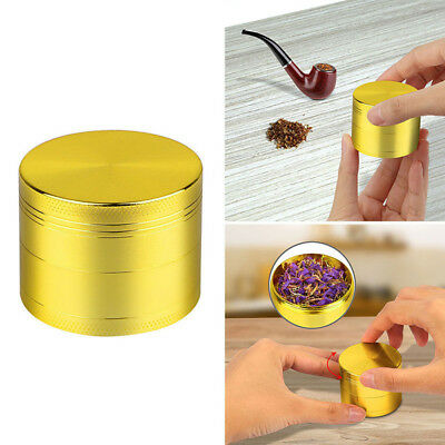 4-layer Smoke Grinder Aluminum Herb Tobacco Grinders Hand Crank Herbal Gold Hot