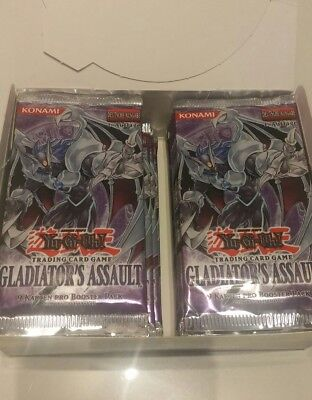 Yu-Gi-Oh Display Gladiators Assault, 1. Auflage, 24 Booster, unsortiert, GLAS