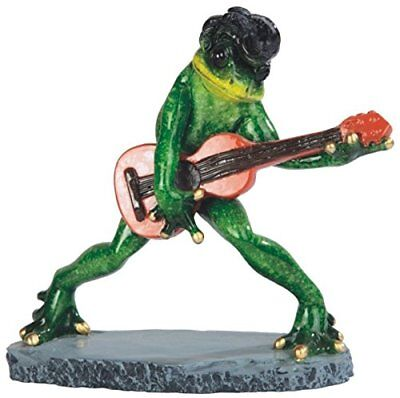 StealStreet Elvis Frog Playing Guitar Figurine, 6 5 NEW, Free Shipping
