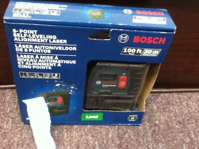 GPL 5S New in box,Bosch 5-Point Self-Leveling Alignment. GPL 5S  BRAND NEW IN BO