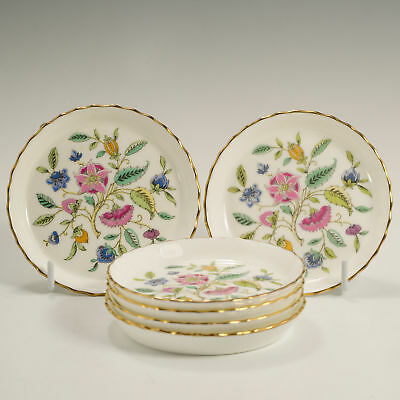 Minton Haddon Hall 6 Six Gilded Pin, Butter, Sauce Dishes Made England Firsts