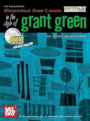 ESSENTIAL JAZZ LINES IN STYLE OF GRANT GREEN FOR GUITAR BOOK/CD By Corey **NEW**