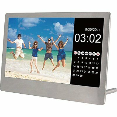 Sylvania SDPF7977 7Inch Stainless Steel Digital Photo Frame Stainless Steel NEW