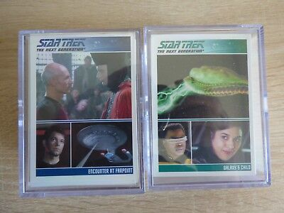 STAR TREK: THE COMPLETE TNG (Series 1 & 2) Zwei Base Card Sets (alle 180 Cards)