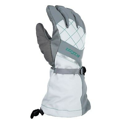 (MD, Gray/Green) - Klim Women's Allure Glove (MD, Grey-Mint). Shipping Included