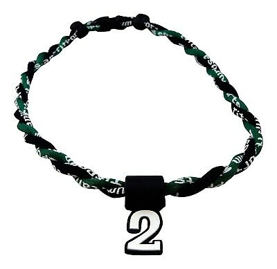 (Green Black) - Pick Your Number - Twisted Titanium Sports Tornado Necklace