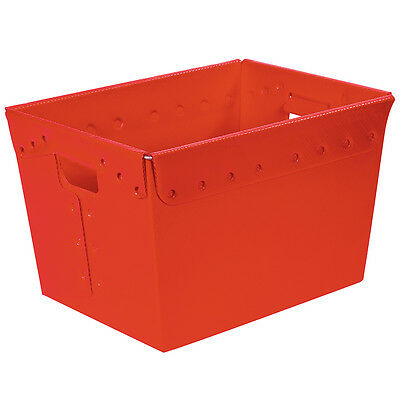 """Box Partners Space Age Totes 18"""" x 13"""" x 12"""" Red 6/Case BINS187"""