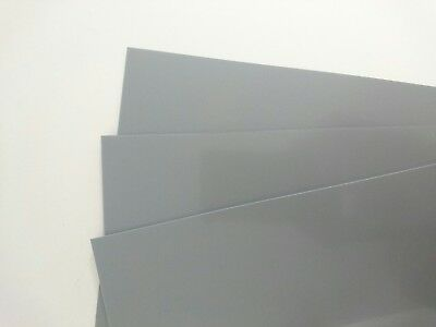 Gloss Grey Plasticard 1.5mm 60 thou Sheet A4 High Impact Polystyrene