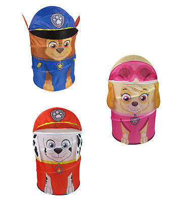 Paw Patrol Kids Pop Up 3D Storage Bin For Toys or Laundry Chase Marshall Skye