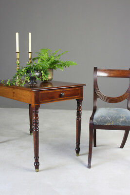 Antique Victorian Mahogany Side Hall Console Occasional Table