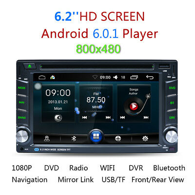 "6.2"" Double2DIN Android GPS Autoradio Stereo WIFI 3G HD DVD Bluetooth Lettore EU"
