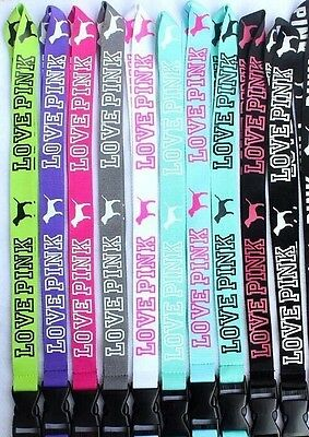 10 Lanyards! One of each color! Victorias Secret VS Love Pink Lanyard with Dogs