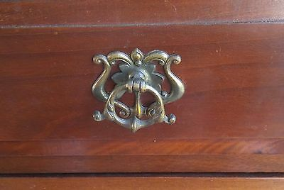 Antique Victorian Drawer Pull England French Provincial Brass Gold Ornate