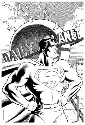 SUPERMAN original art by Gary Martin