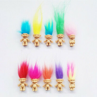 Cute 3Pcs Lucky Troll Doll Leprechauns Minifigure Toy Pen Cake Decoration Chic