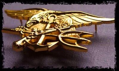 US Military Badge: NAVY SEALS ✪ Offizier: Gold ✪ SEAL TEAM SIX 6 ✪ Movie Replika