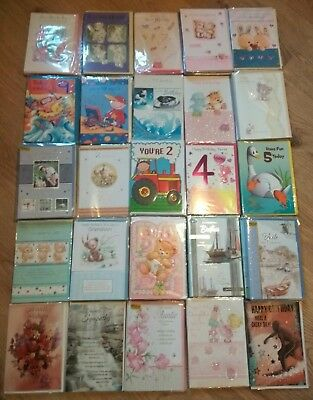 75 x Wholesale Job Lot Mixed Greetings Cards Birthday Etc