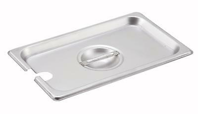 Winco SPCQ 1/4 Size Stainless Steel Slotted Steam Table Pan Cover