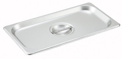 Winco SPSCN 1/9 Size Stainless Steel Solid Steam Table Pan Cover