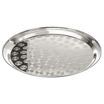 "Update SST-16R 1ea 16"" Round Serving Tray Stainless Steel"