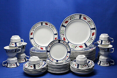 Adams Lancaster Real English Ironstone 60 PCS Service for 12 Complete Set
