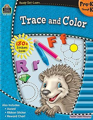 READY-SET-LEARN: TRACE AND COLOR PREK-K By Teacher Created Resources Staff *NEW*
