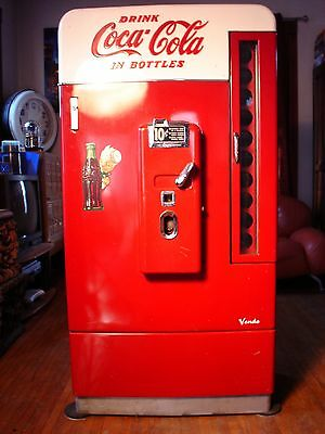 1956 Coca Cola COKE Vendo 110 (V-110) Vending Machine.