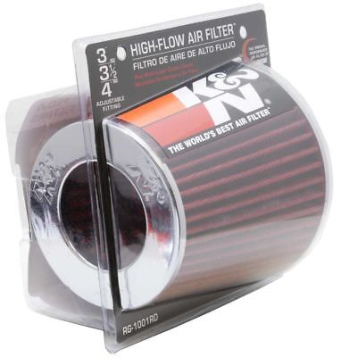 K&N Universal Red Colour Induction Kit / Replacement Filter 76mm-100mm