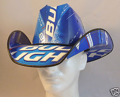Beer Box Cowboy Hat Made from recycled BUD LIGHT boxes NASCAR Party Stetson Frat
