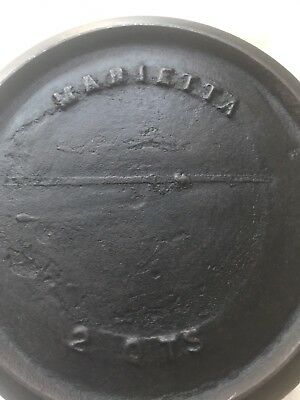 Antique MARIETTA #2 With Heat Ring And Gate Mark Cast Iron Gypsy Pot
