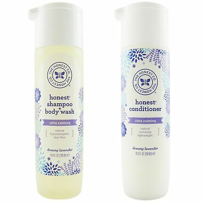 The Honest Company Dreamy Lavender Shampoo and Body Wash and Conditioner Comb...