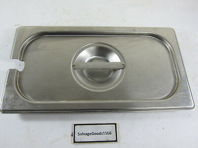 """Brandware 7"""" x 4""""( Lot of 7 ) Steam Table Pan Lids Only HGS-1900-2 Stain.Steel"""
