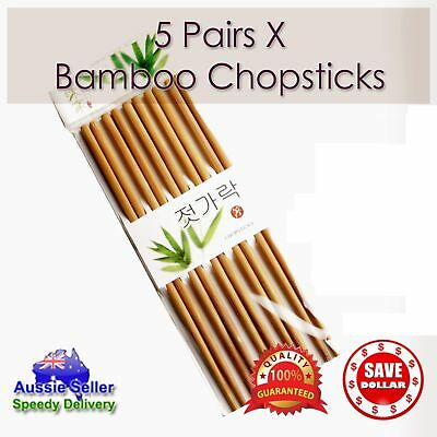 5 10 Pairs High Quality Classic Asian Bamboo Chopsticks Wooden Wood Dinner Gift