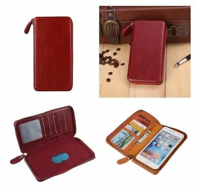for HUAWEI ASCEND G330D (HUAWEI U8825D) Red Executive Wallet Pouch Case with ...