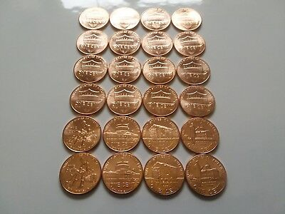 2009 - 2010 - 2017 P & D Uncirculated 24 Bu Lincoln Penny Cent Set