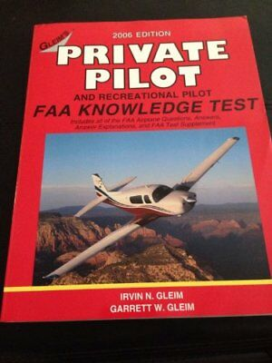 PRIVATE PILOT FAA KNOWLEDGE TEST By Irvin N Gleim *Excellent Condition*