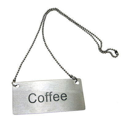 Update CS-CFE Stainless Steel Chain Sign 3.5in x 1.75in Coffee