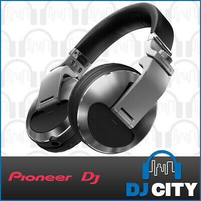 Pioneer DJ HDJ-X10 Silver Professional DJ Headphones w/ Coiled Cable & Carry Bag