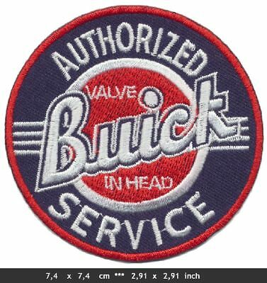 BUICK SERVICE Aufnäher Patches Auto cars Regal Riviera Oldtimer USA BLITZVERSAND