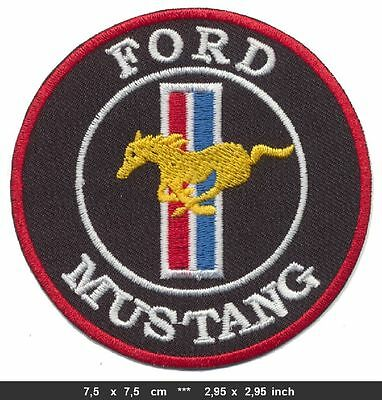 FORD MUSTANG Aufnäher Patch Auto cars V8 Shelby GT 500 USA BLITZVERSAND