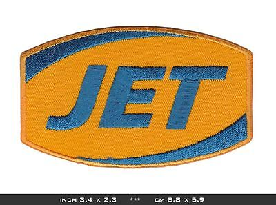 JET Aufnäher Patches Tankstelle Gasoline Petrol Station Racing Fuel BLITZVERSAND