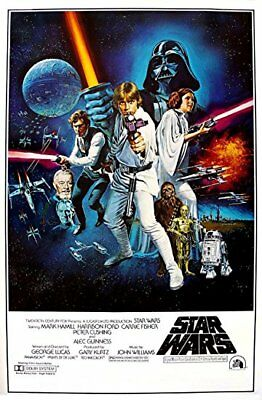 1970's Sci-Fi  * Star Wars * Style C Movie Poster 1977  4X6