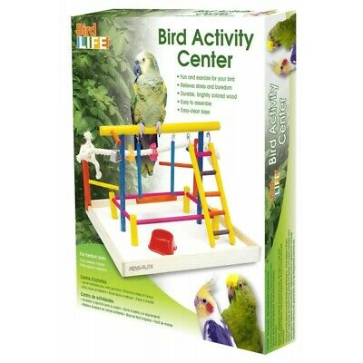 Penn Plax Bird Activity Play Gym Extra Large Bird Toy Perch Cage