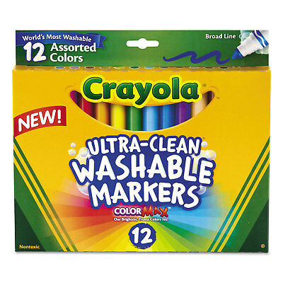 Crayola Washable Markers Broad Point Classic Colors 12/Set 587812