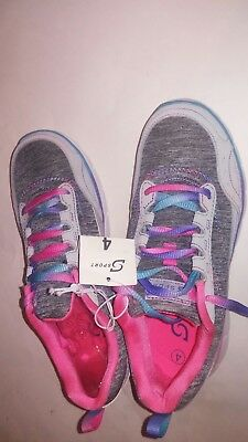 Girls' S Sport Designed By Skechers Athletic Shoes Size 4 NEW WITH TAG