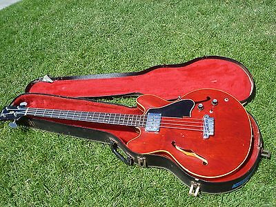 1967 Gibson EB-2 EB-2C Vintage Bass Guitar Cherry Red