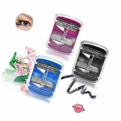 Dual Holes Precision Cosmetic Pencil Sharpener for Eyebrow Lip Eye liner beauty