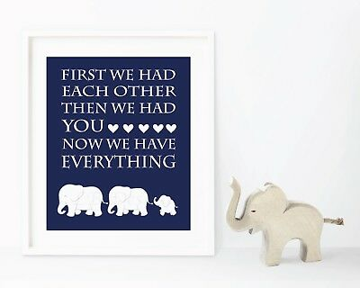 Navy Blue and White Elephant Nursery, Boy Nursery Decor, Jungle Nursery