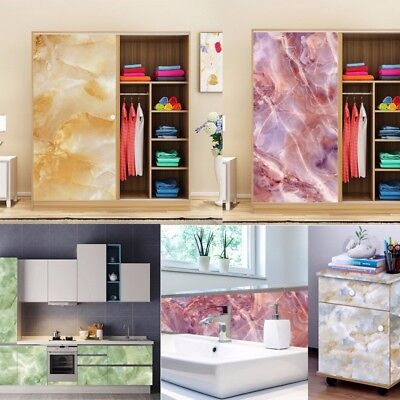 Marble Effect Counter Top Contact Paper Vinyl Self Adhesive Decor Wall Sticker